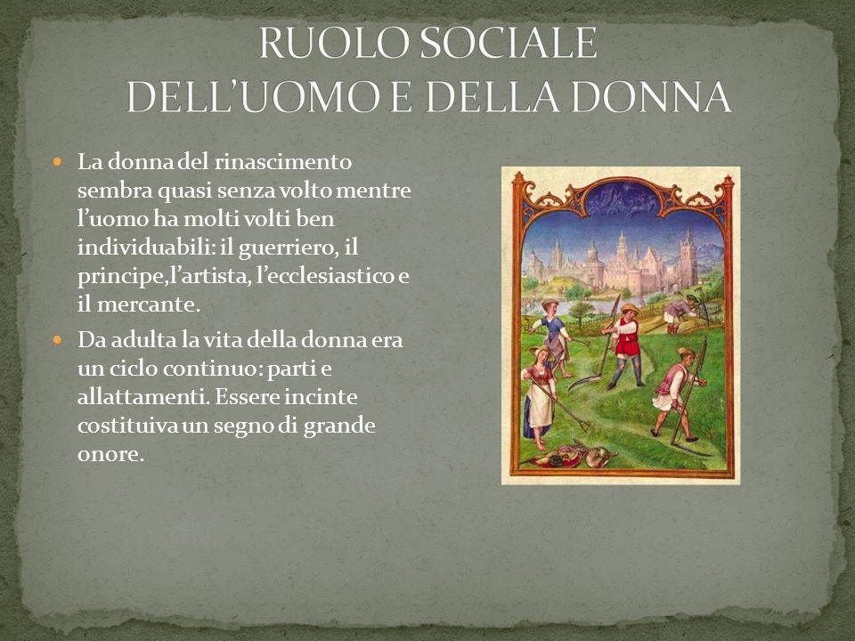 RUOLO SOCIALE DELL'UOMO E DELLA DONNA