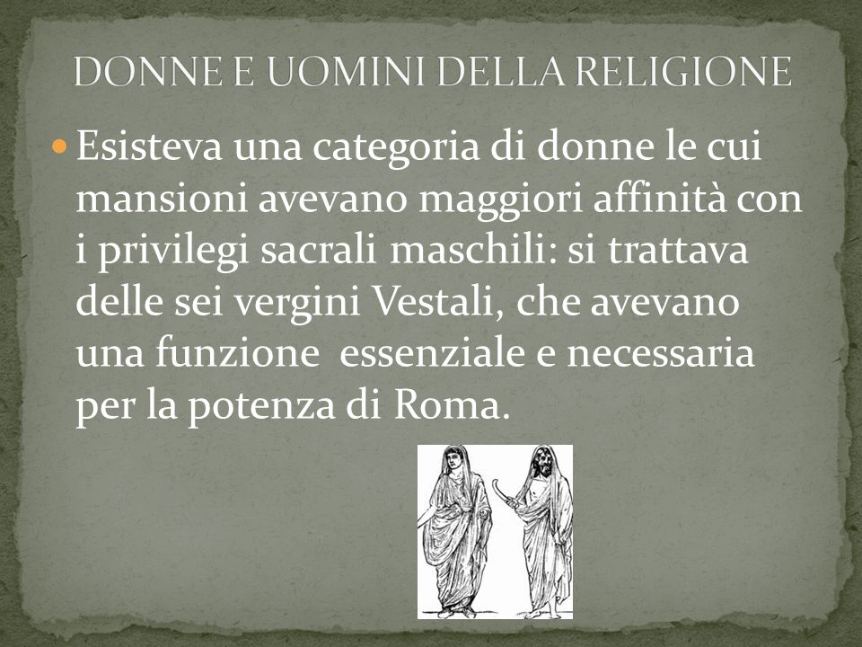 DONNE E UOMINI DELLA RELIGIONE