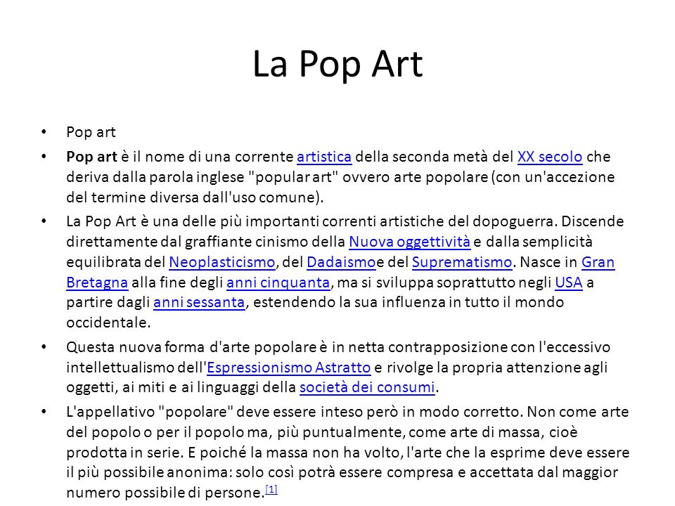 La Pop Art Pop art.
