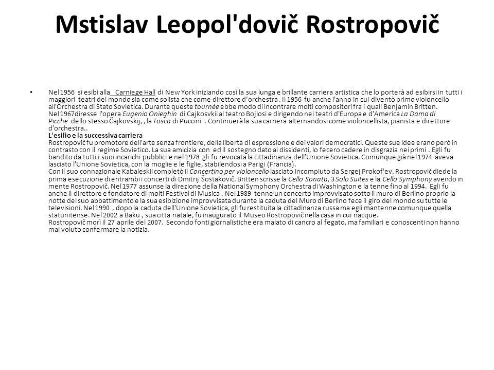 Mstislav Leopol dovič Rostropovič