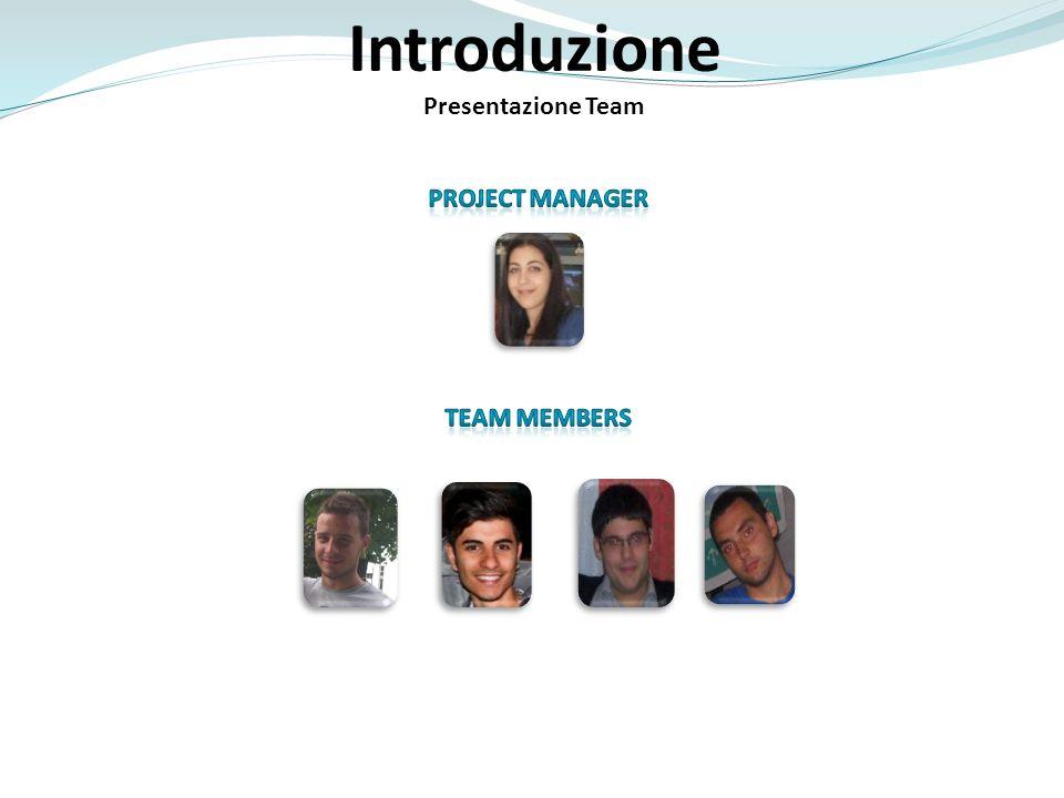 Introduzione Presentazione Team PROJECT MANAGER Team members