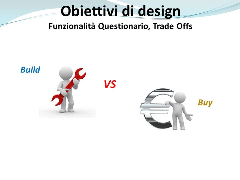 Funzionalità Questionario, Trade Offs