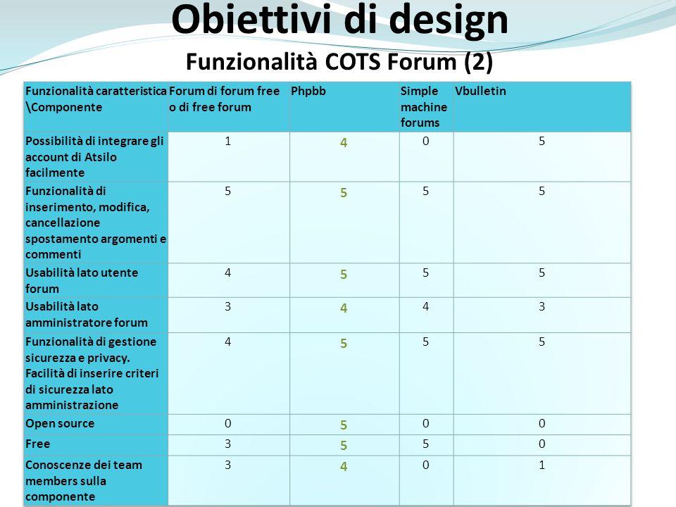 Funzionalità COTS Forum (2)