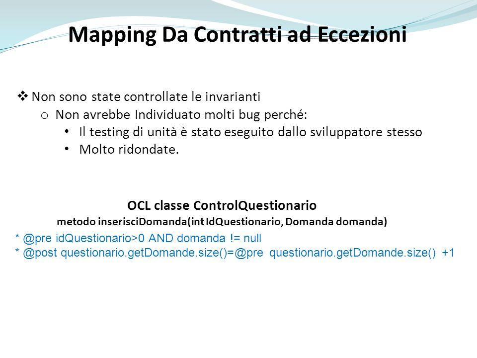 Mapping Da Contratti ad Eccezioni