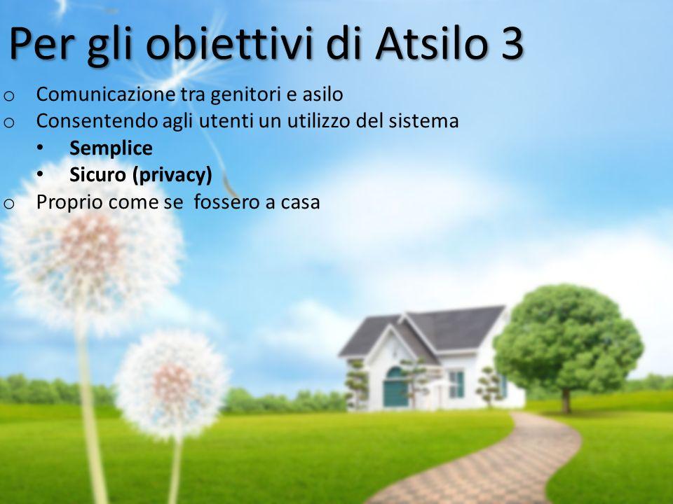 Per gli obiettivi di Atsilo 3