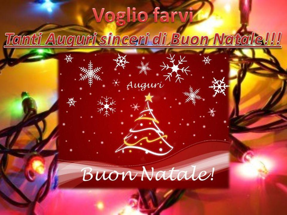 Tanti Auguri sinceri di Buon Natale!!!