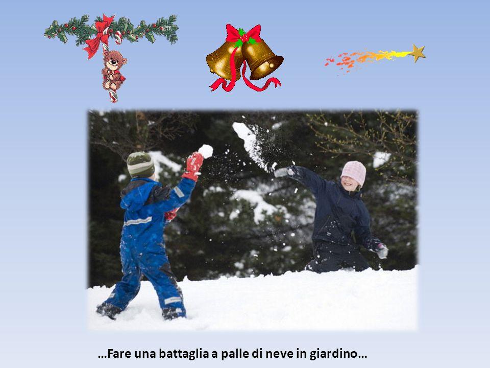 …Fare una battaglia a palle di neve in giardino…