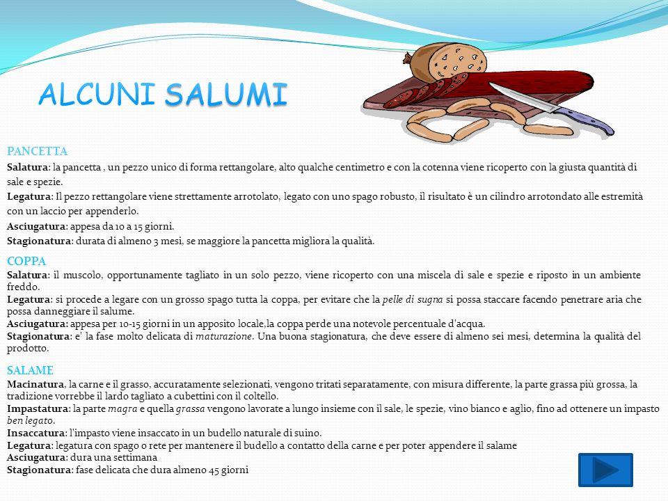 ALCUNI SALUMI PANCETTA COPPA SALAME