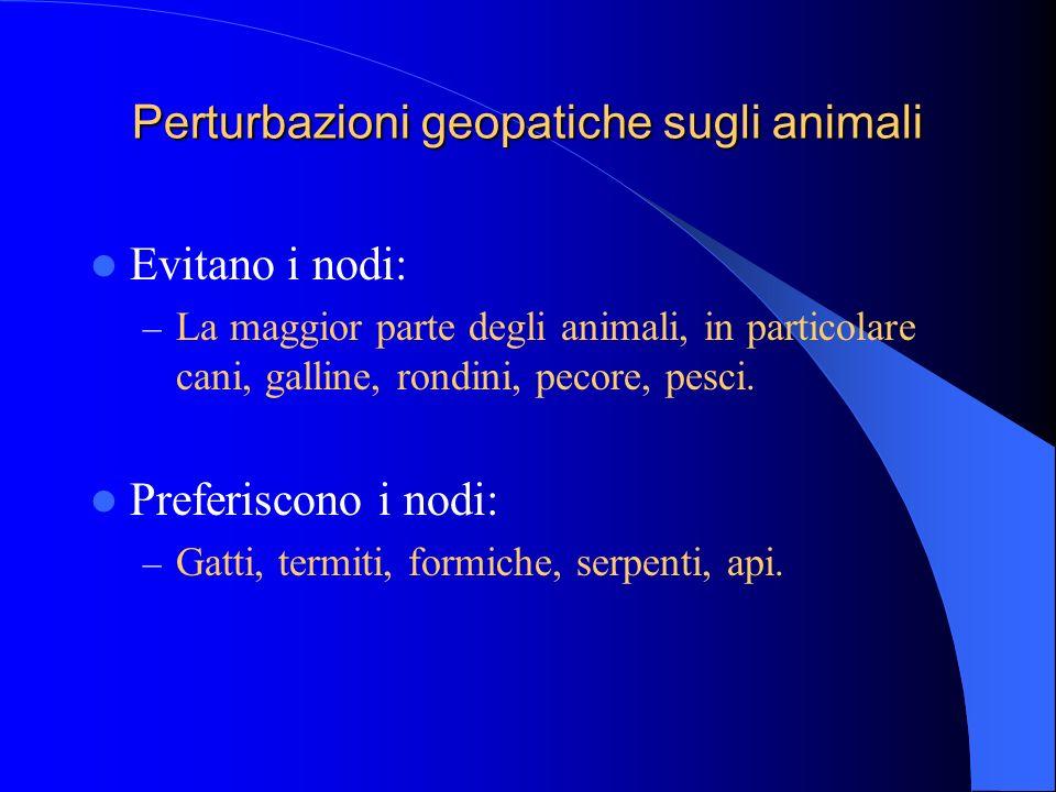 Perturbazioni geopatiche sugli animali