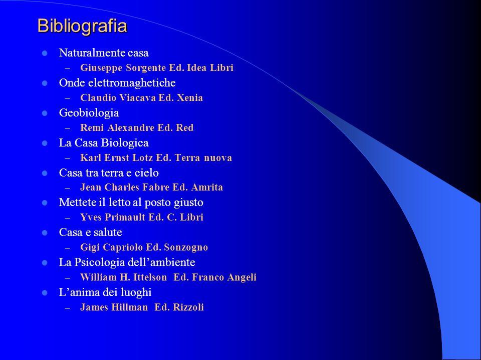 Bibliografia Naturalmente casa Onde elettromaghetiche Geobiologia