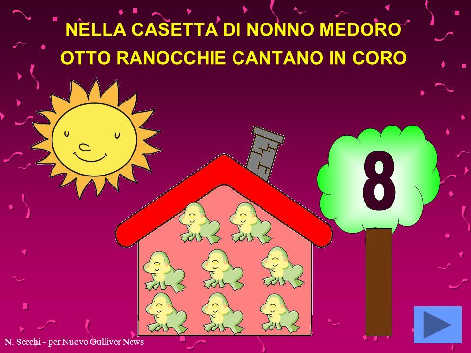 NELLA CASETTA DI NONNO MEDORO OTTO RANOCCHIE CANTANO IN CORO