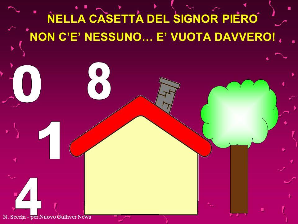 NELLA CASETTA DEL SIGNOR PIERO NON C'E' NESSUNO… E' VUOTA DAVVERO!