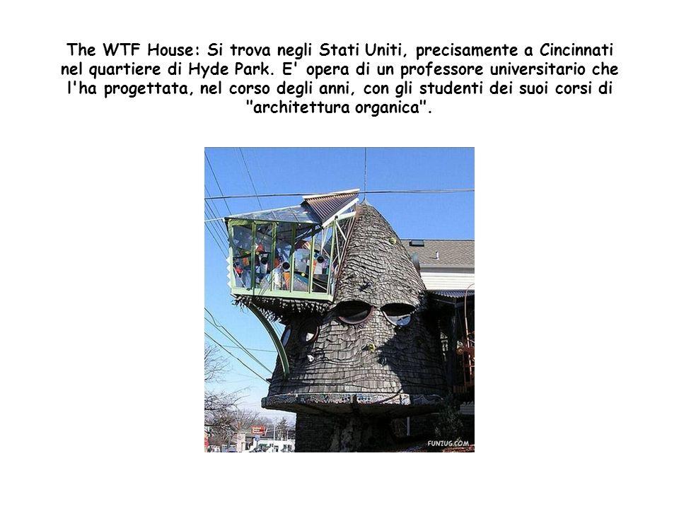 The WTF House: Si trova negli Stati Uniti, precisamente a Cincinnati nel quartiere di Hyde Park.