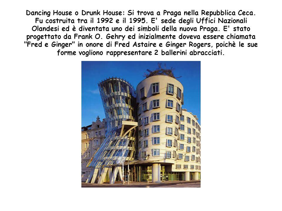 Dancing House o Drunk House: Si trova a Praga nella Repubblica Ceca