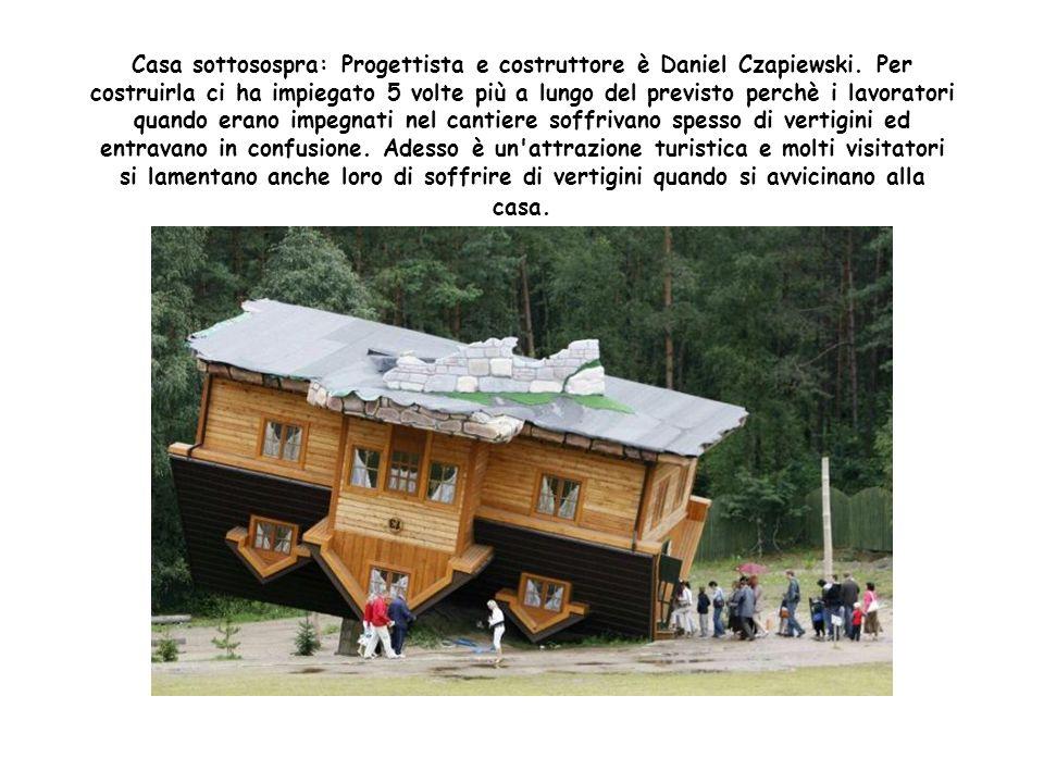 Casa sottosospra: Progettista e costruttore è Daniel Czapiewski