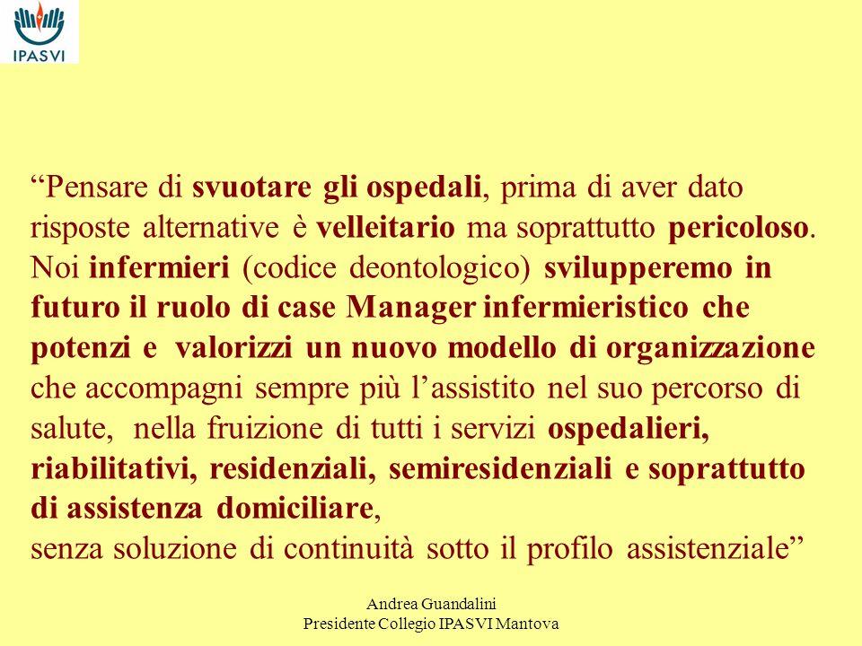 Andrea Guandalini Presidente Collegio IPASVI Mantova