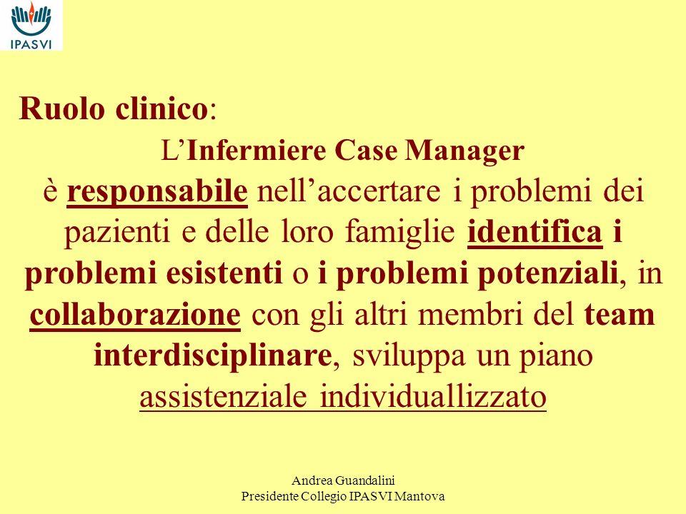 Ruolo clinico:L'Infermiere Case Manager.