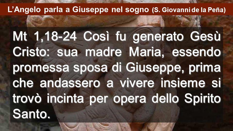 L'Angelo parla a Giuseppe nel sogno (S. Giovanni de la Peña)