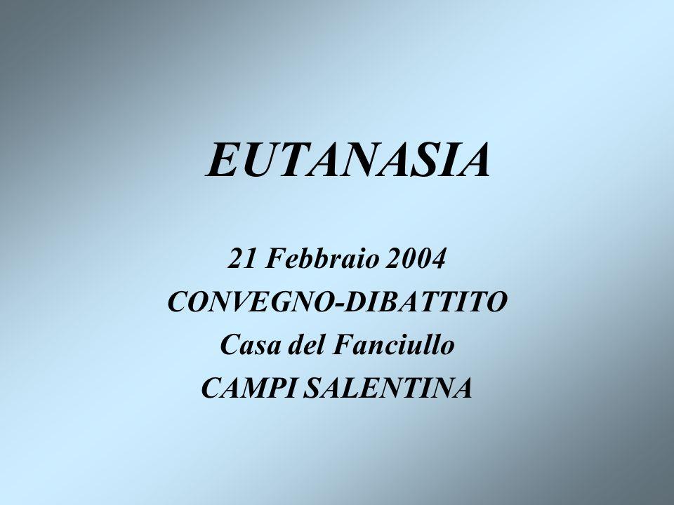 21 Febbraio 2004 CONVEGNO-DIBATTITO Casa del Fanciullo CAMPI SALENTINA