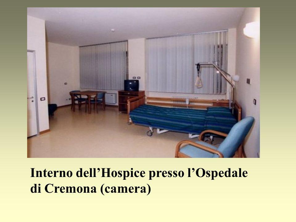 Interno dell'Hospice presso l'Ospedale di Cremona (camera)