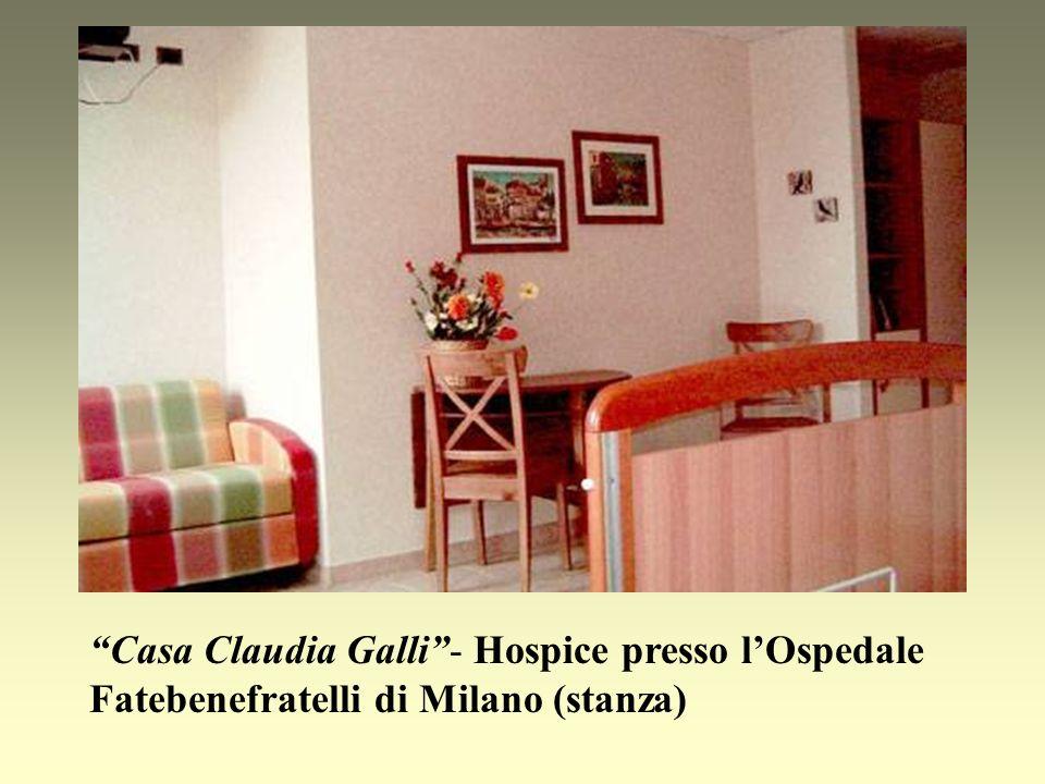 Casa Claudia Galli - Hospice presso l'Ospedale Fatebenefratelli di Milano (stanza)
