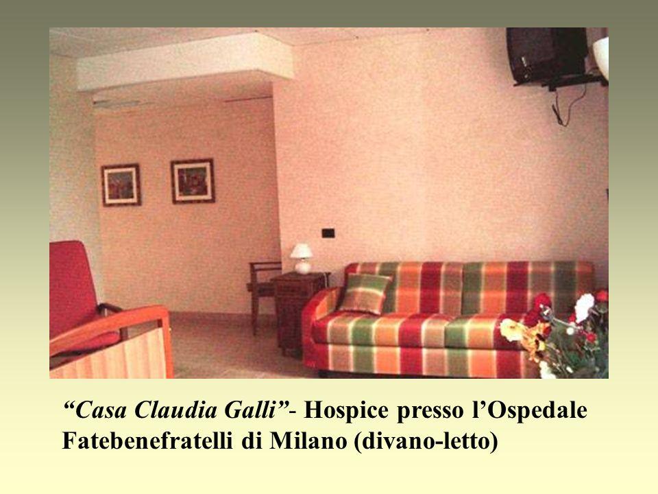 Casa Claudia Galli - Hospice presso l'Ospedale Fatebenefratelli di Milano (divano-letto)