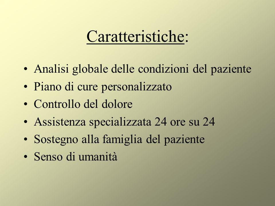 Caratteristiche: Analisi globale delle condizioni del paziente