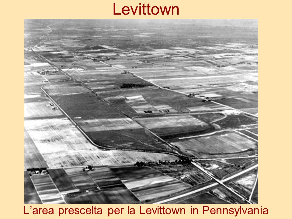 L'area prescelta per la Levittown in Pennsylvania