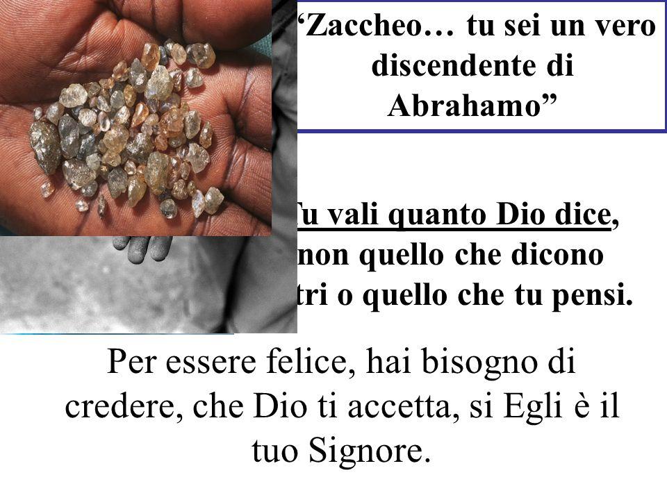 Zaccheo… tu sei un vero discendente di Abrahamo