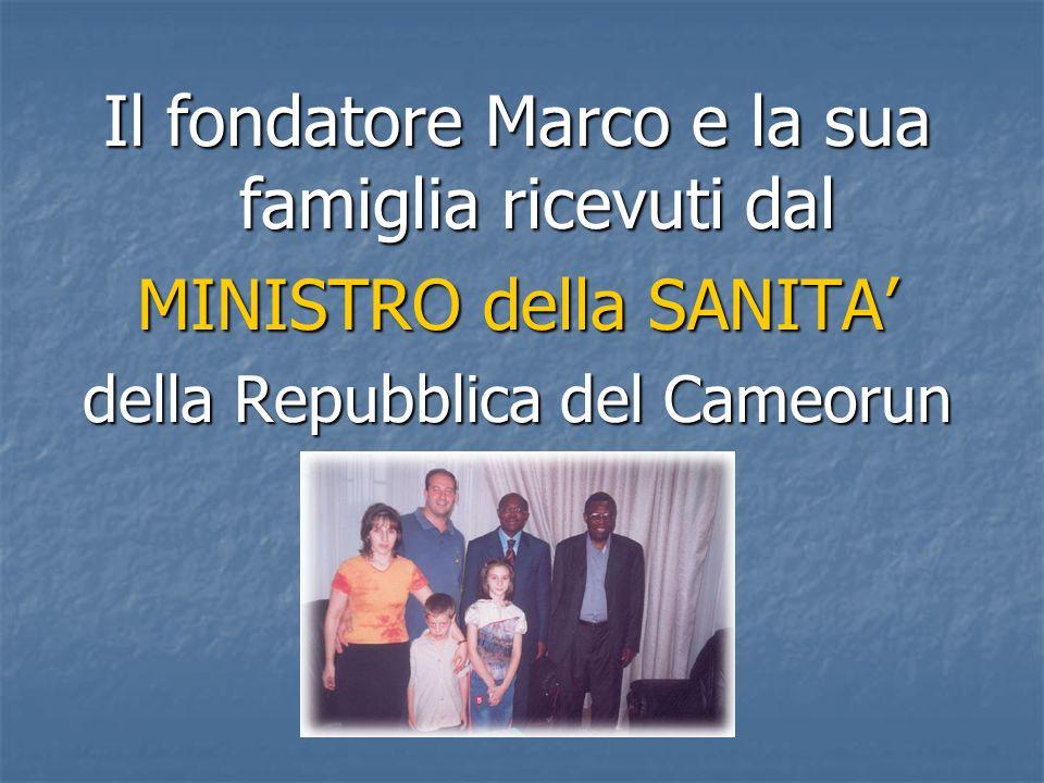 Il fondatore Marco e la sua famiglia ricevuti dal