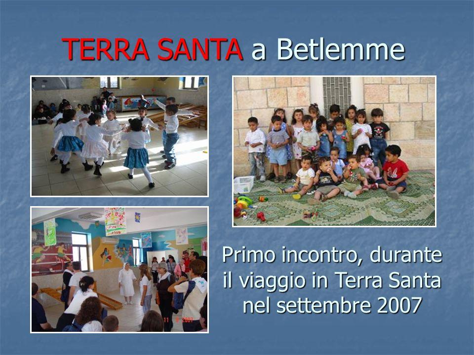 Primo incontro, durante il viaggio in Terra Santa nel settembre 2007