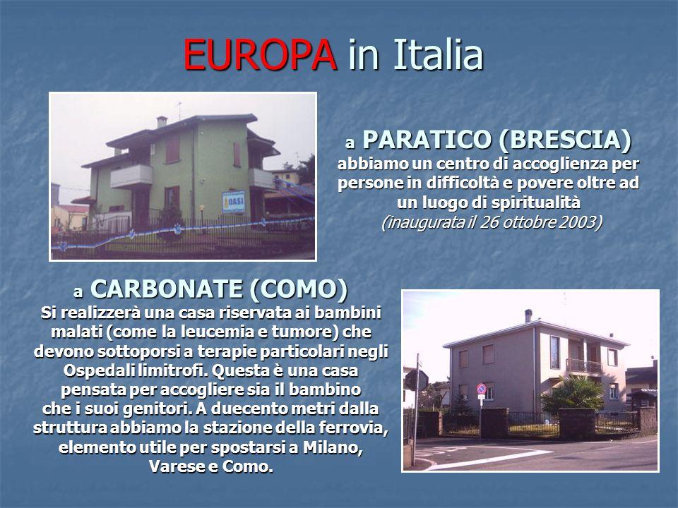 EUROPA in Italia a PARATICO (BRESCIA)