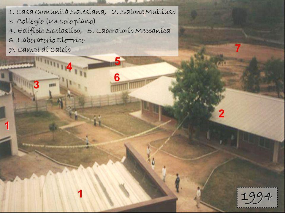 1 3. 2. 4. 5. 6. 7. 1. Casa Comunità Salesiana, 2. Salone Multiuso 3. Collegio (un solo piano)