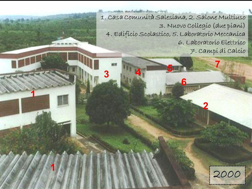 1 3. 4. 6. 5. 2. 7. 1. Casa Comunità Salesiana, 2. Salone Multiuso 3. Nuovo Collegio (due piani)