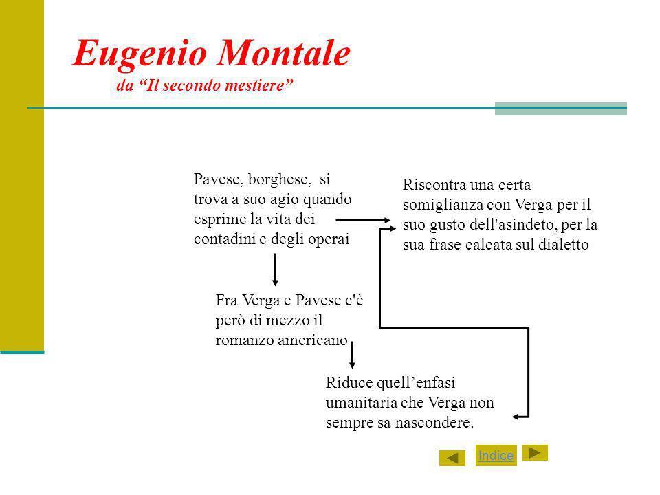 Eugenio Montale da Il secondo mestiere