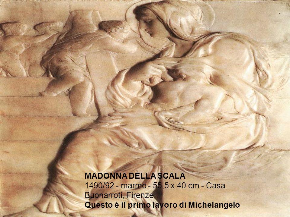 MADONNA DELLA SCALA 1490/92 - marmo - 55,5 x 40 cm - Casa Buonarroti, Firenze.