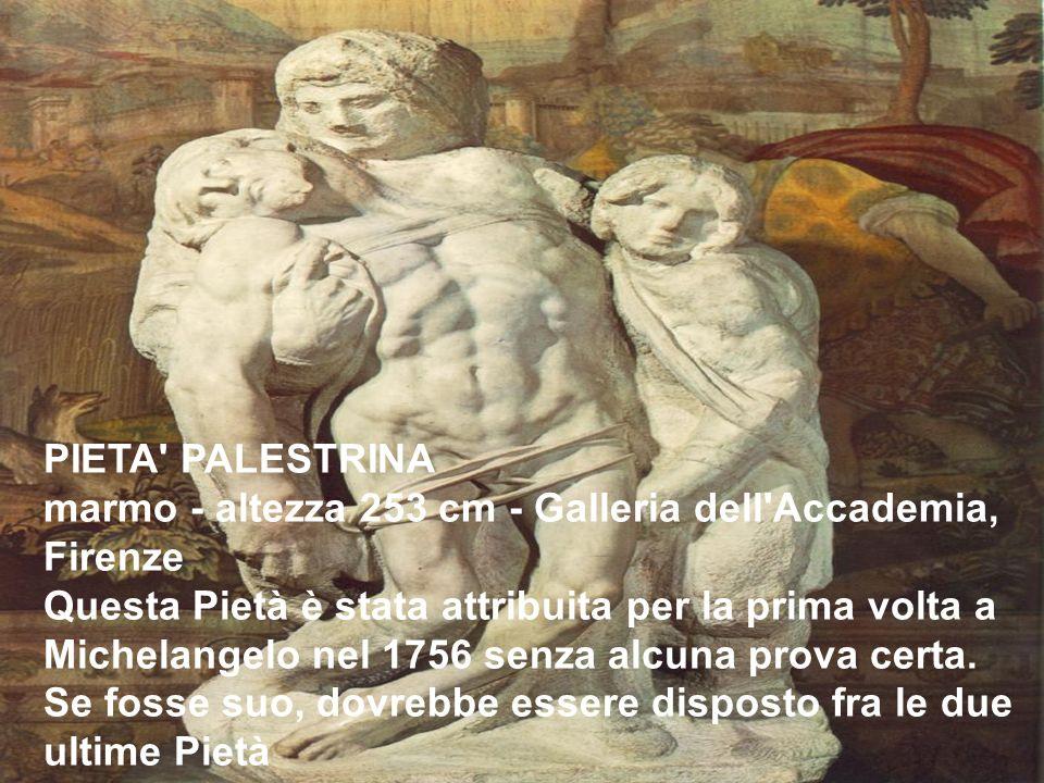 PIETA PALESTRINA marmo - altezza 253 cm - Galleria dell Accademia, Firenze.