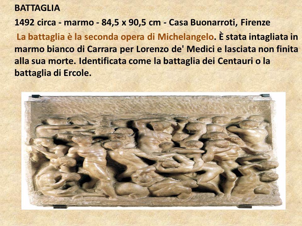 BATTAGLIA 1492 circa - marmo - 84,5 x 90,5 cm - Casa Buonarroti, Firenze.