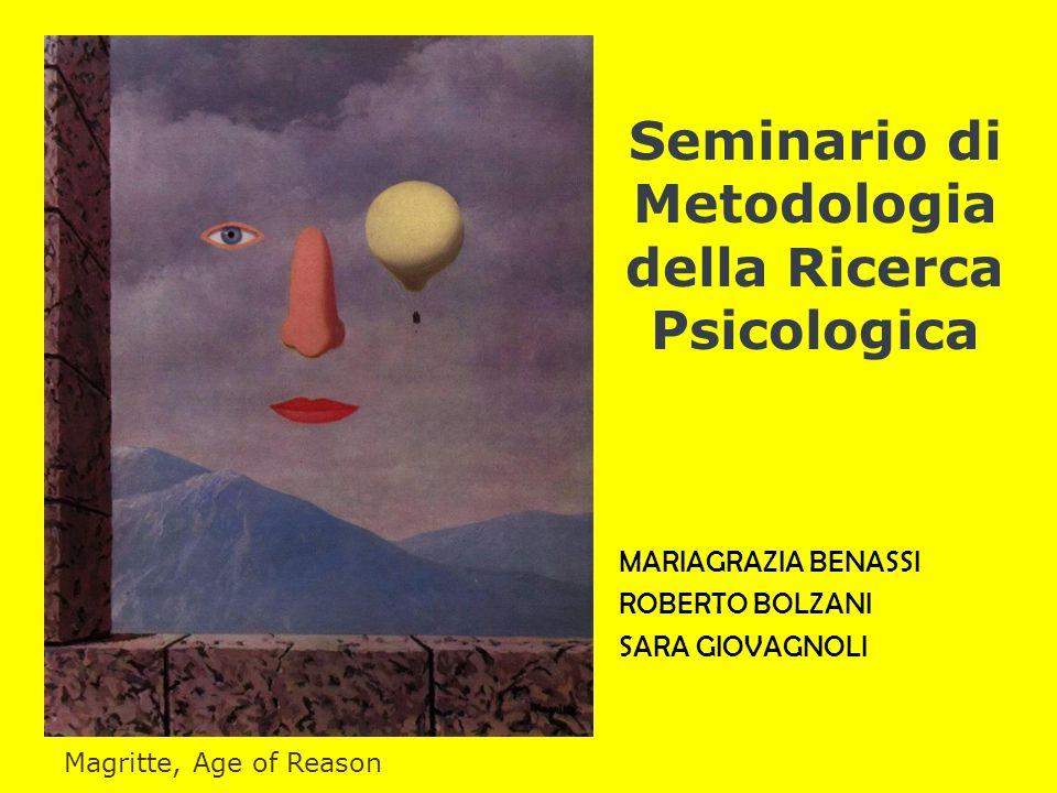 Seminario di Metodologia della Ricerca Psicologica