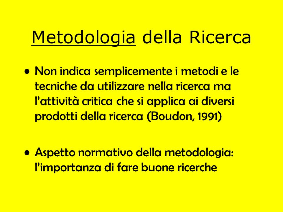Metodologia della Ricerca