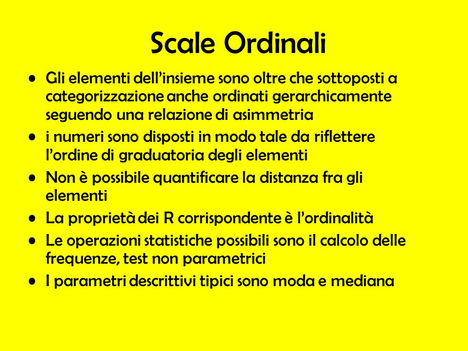 Scale Ordinali