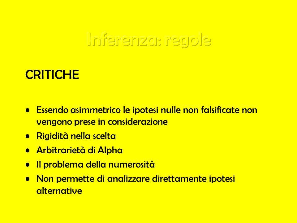 Inferenza: regole CRITICHE