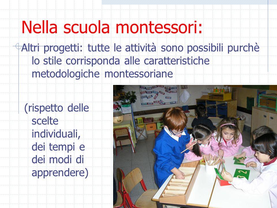 Nella scuola montessori: