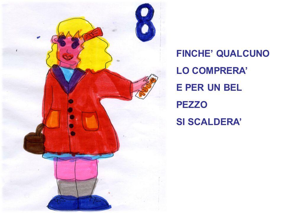 FINCHE' QUALCUNO LO COMPRERA' E PER UN BEL PEZZO SI SCALDERA'
