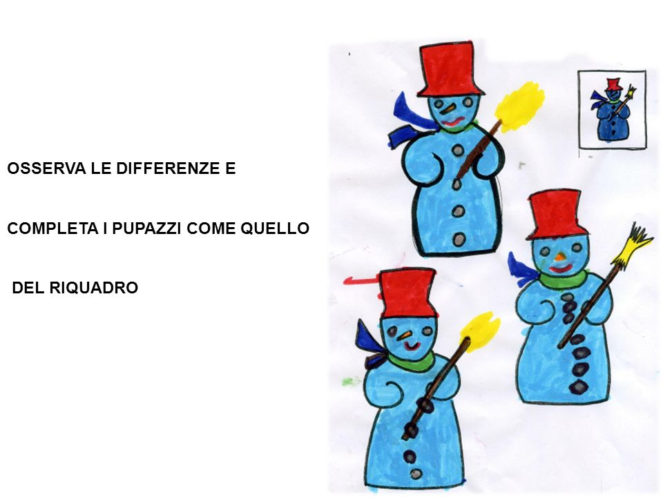 OSSERVA LE DIFFERENZE E