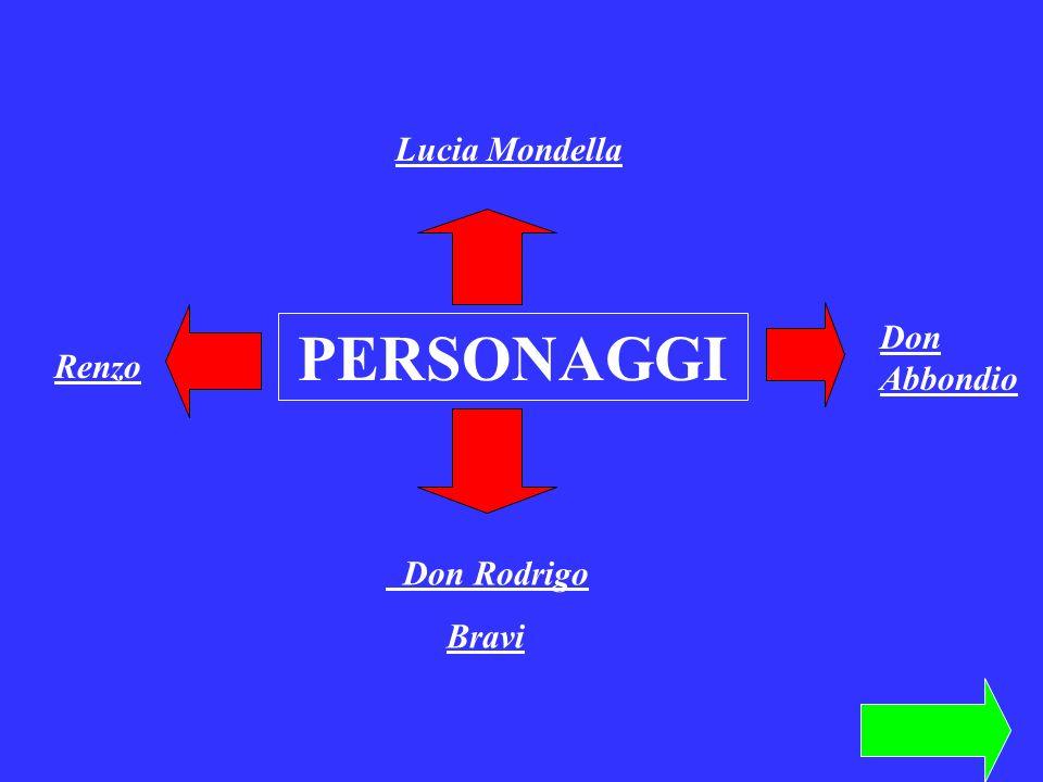 Lucia Mondella PERSONAGGI Don Abbondio Renzo Don Rodrigo Bravi