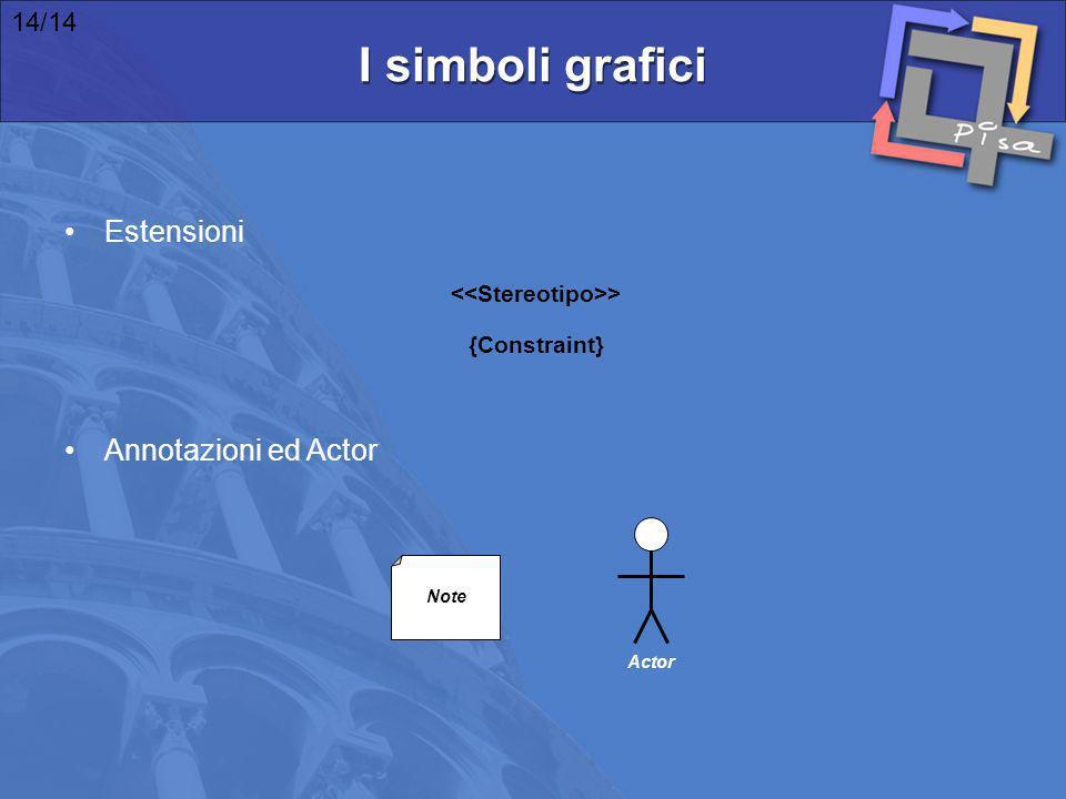 I simboli grafici Estensioni Annotazioni ed Actor 14/14