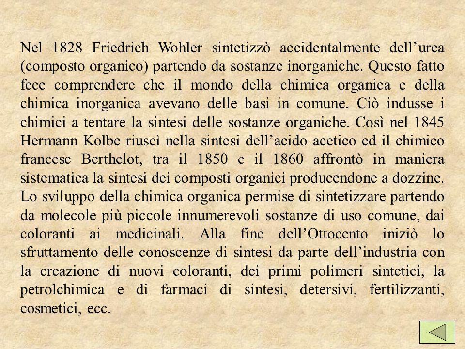 Nel 1828 Friedrich Wohler sintetizzò accidentalmente dell'urea (composto organico) partendo da sostanze inorganiche.