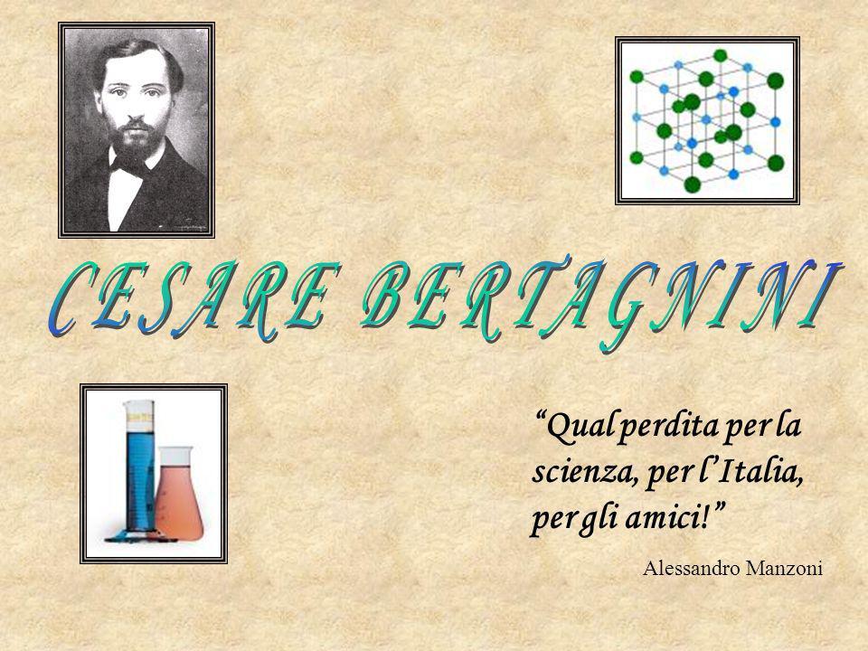 CESARE BERTAGNINI Qual perdita per la scienza, per l'Italia, per gli amici! Alessandro Manzoni
