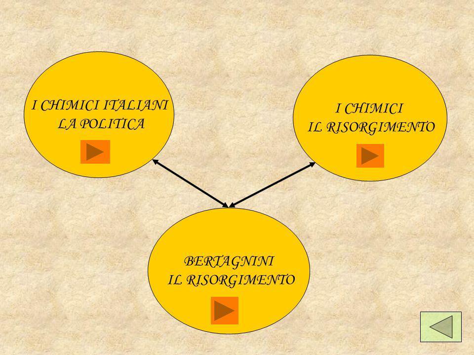 I CHIMICI ITALIANI LA POLITICA I CHIMICI IL RISORGIMENTO BERTAGNINI IL RISORGIMENTO